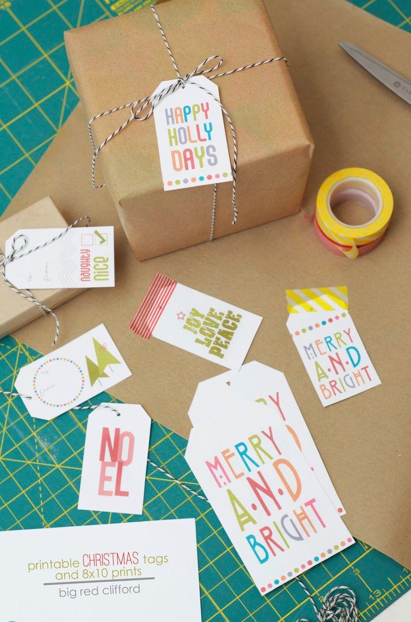 Printable christmas tags and prints